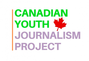 Logo for the Canadian Youth Journalism Project.